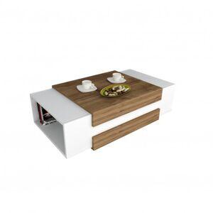 Sconto Konferenční stolek NORA ořech/bílá