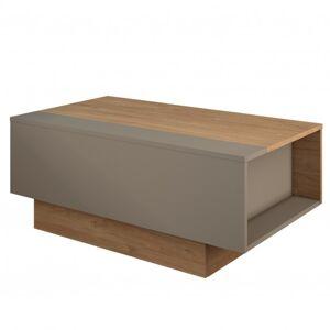 Sconto Konferenční stolek NUMS 1 dekor dub kansas/šedá