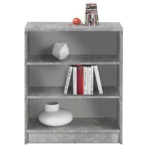 Sconto Regál/knihovna OPTIMUS 35-002 beton/bílá