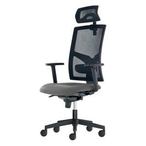 Sconto Kancelářská židle PAIGE šedá