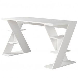 Sconto Pracovní stůl PAPILON bílá