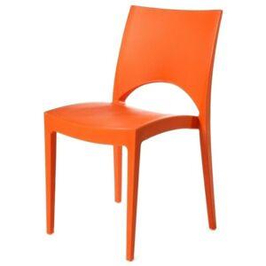 Sconto Jídelní židle PARIS oranžová