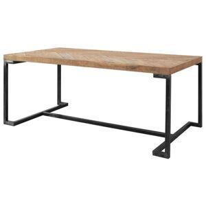 Sconto Jídelní stůl PARQUET přírodní akácie/šedá