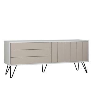 Sconto TV stolek PICADILLY bílá/světlá mocha
