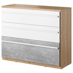 Sconto Komoda PLANO 07 dub nash/bílá/beton