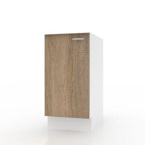 Sconto Spodní skříňka POLAR II dub sonoma/bílá, 40 cm