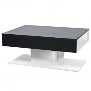 Sconto Konferenční stolek QUADRO dub černý/bílá
