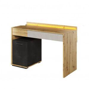Sconto Psací stůl QUBIC 08 dub artisan/šedá