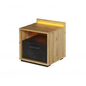 Sconto Noční stolek QUBIC 10 dub artisan/černá