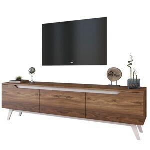 Sconto TV stolek QUINN tmavý ořech/bílá