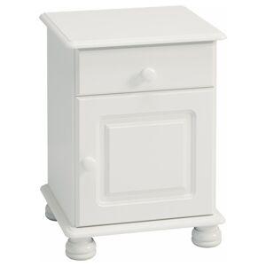 Sconto Noční stolek ROCKWOOD bílá
