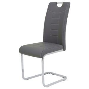 Sconto Jídelní židle RUBY S CAP šedá