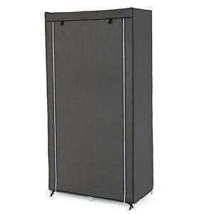 Sconto Látková šatní skříň RYG84 šedá