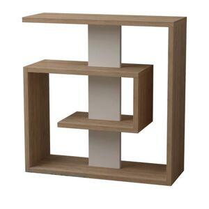 Sconto Přístavný stolek SALY sonomo/bílá