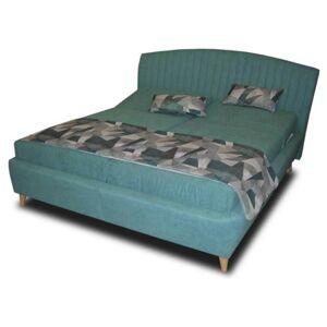 Sconto Polohovací postel SHELLY tyrkysová, 180x200 cm