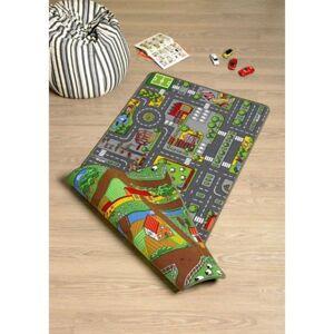 Sconto Dětský oboustranný koberec SILNICE 3 100x165 cm, vícebarevná