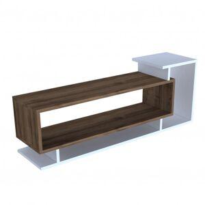 Sconto TV stolek SOLO ořech/bílá