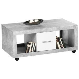 Sconto Konferenční stolek STONE beton/bílá