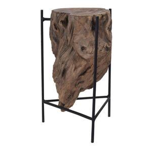 Sconto Odkládací stolek TEAK černá/přírodní