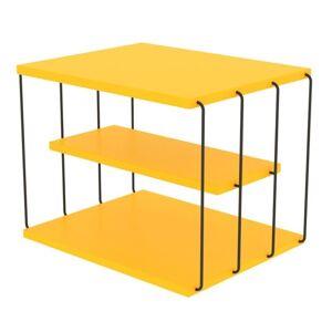 Sconto Přístavný stolek TLOS LIFON žlutá/černá