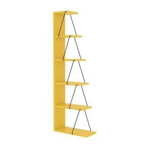 Sconto Regál/knihovna TLOS žlutá/černá
