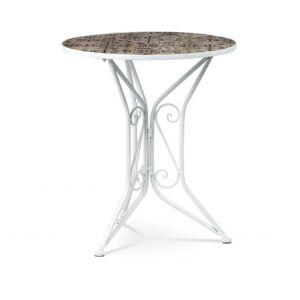 Sconto Zahradní stolek US 1000 bílá,mozaika