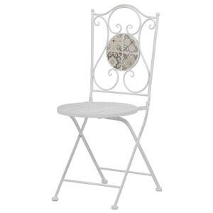 Sconto Zahradní židle US1001 bílá/mozaika