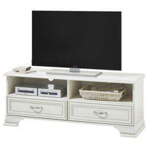 Sconto TV stolek VENEDIG bílá/patina