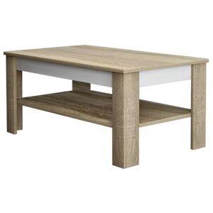 Sconto Konferenční stolek VOTO 2 dub sonoma/bílá