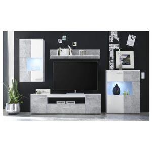 Sconto Obývací stěna VULCAN beton/bílá