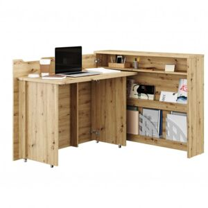 Sconto Pracovní stůl WORK CONCEPT levá, dub artisan